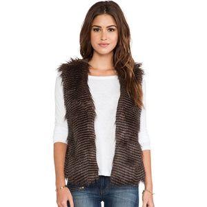 NEW Revolve Jack BB Dakota Boho Faux Fur Vest